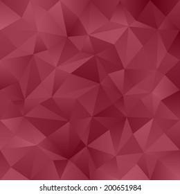 Crimson abstract irregular triangle pattern background - vector version