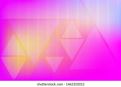 Crimson and pink vector texture with colored shapes. Blurred decorative design in simple style with triangles. Template for your beautiful backgrounds. Futuristic illustration of geometric patterns.