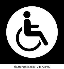 Cripple icon great for any use. Vector EPS10.