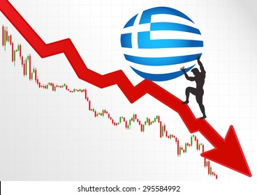 The crisis in Greece and Sisyphus.Financial metaphor.