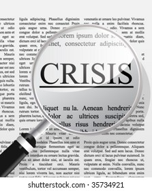 Crisis newspaper head