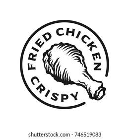 crispy chicken thighs logo template