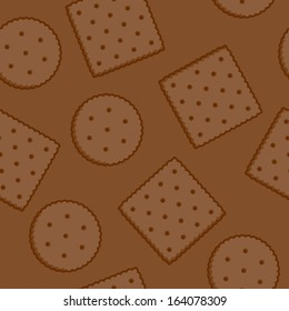 Crispy Crackers seamless texture in brown colors