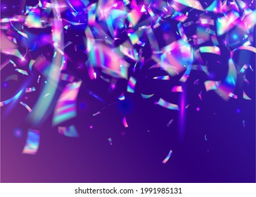 Cristal Texture. Holiday Art. Purple Metal Effect. Blur Flare. Birthday Background. Retro Abstract Wallpaper. Crystal Foil. Light Tinsel. Pink Cristal Texture