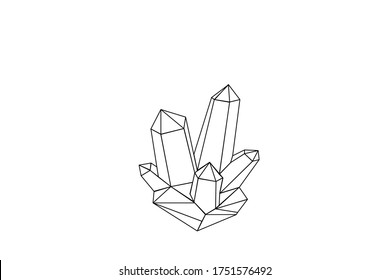 Cristal vector illustration with mosaic texture