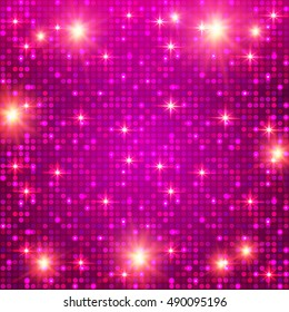 Cristmas Background with Shining Light Texture. Show Background. Shining Disco & Party Design. Casino Template. Vector illustration