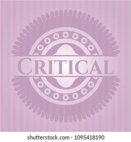 Critical realistic pink emblem