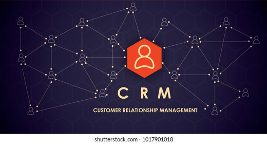 CRM : Customer relationship management. Flat icons of accounting system, clients, support, deal
