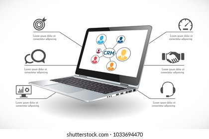 CRM software concept - Customer relationship management system