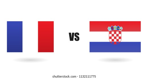 Croatia against France on a white background vector. Final world cup 2018
