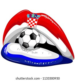 Croatia Flag Lipstick Soccer Championship