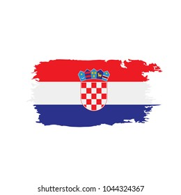 Croatia flag, vector illustration