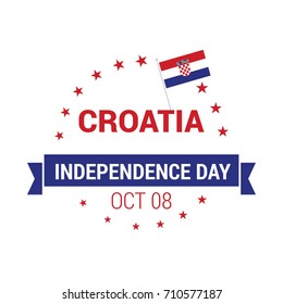 Croatia Independence Day Abstract Flag