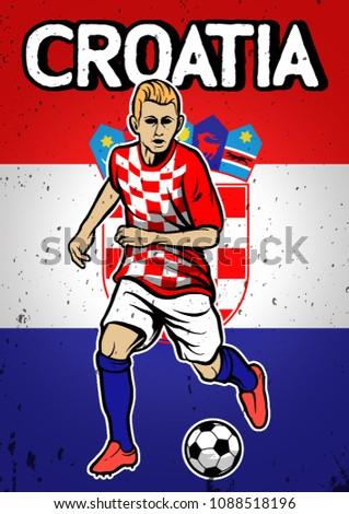 Croatia National Football Team Flag Background Stock Vector (Royalty ... 569ad4467