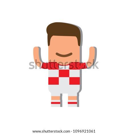 Croatia National Football Team Icon Vector Stock Vector (Royalty ... acbd5ad2e