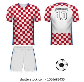 Croatia national soccer team shirt in generic country colors for fan apparel