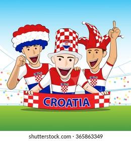Croatia Sport Fans Vector