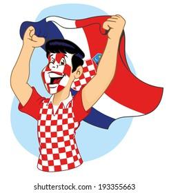 Croatian supporter vibrating