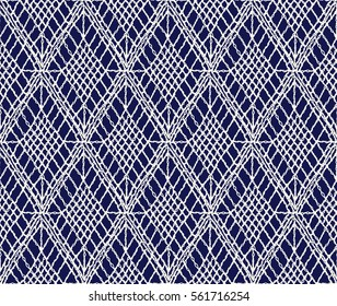 Crochet seamless pattern, knitted or woven macrame in boho style, oriental pattern, bohemian style, knitting, crochet pattern.