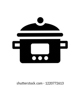 crock-pot icon. Trendy crock-pot logo concept on white background from kitchen collection. Suitable for use on web apps, mobile apps and print media.