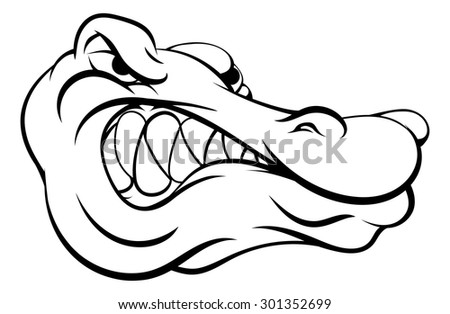 crocodile alligator cartoon character sports mascot stock vector
