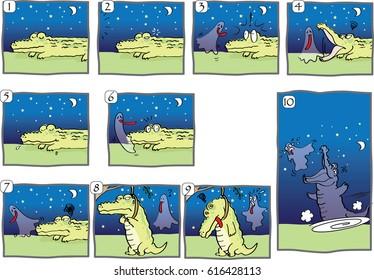 crocodile cartoon comic story
