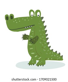crocodile cartoon / vector and illustration, isolated on white background