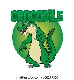 Crocodile character illustration
