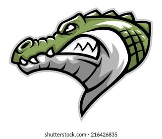 crocodile head side
