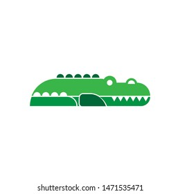 crocodile icon. flat illustration of crocodile - vector icon. crocodile sign symbol