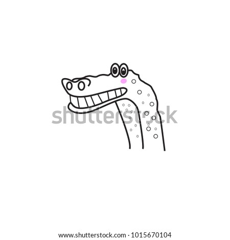 crocodile icon isolated on white background stock vector royalty