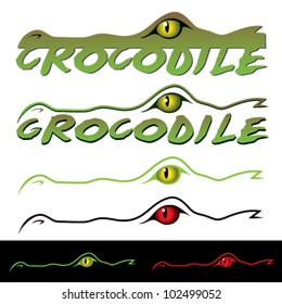 Crocodile label - vector illustration