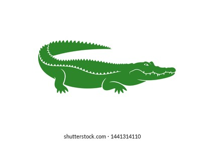 Crocodile logo. Abstract crocodile on white background