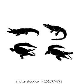 crocodile logo icon design vector illustration