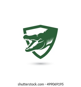 Crocodile symbol - vector illustration