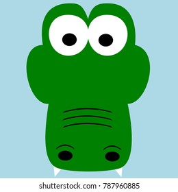 Crocodile Vector Illustration, Cartoon Alligator Clip Art