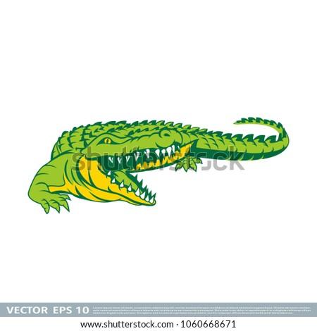 crocodile vector template stock vector royalty free 1060668671