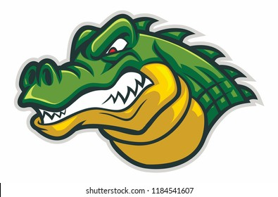 crocodiles head vector