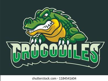 crocodiles mascot vector