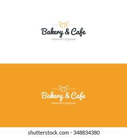 Croissant icon. Bakery logo