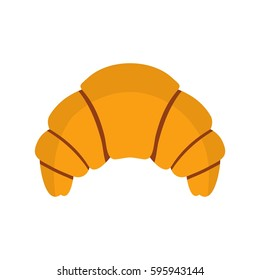 Croissant icon. Flat illustration of croissant vector icon isolated on white background