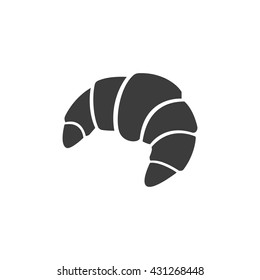 Croissant icon. Flat vector illustration in black on white background. EPS 10