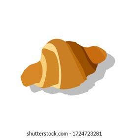 croissant icon vector flat design