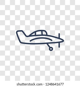 crop duster icon. Trendy linear crop duster logo concept on transparent background from Transportation collection