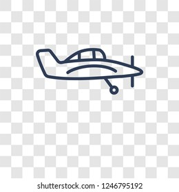 crop duster icon. Trendy crop duster logo concept on transparent background from Transportation collection