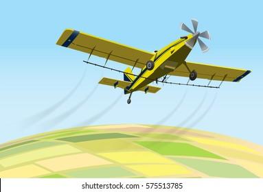 Crop dusting fumigation plane