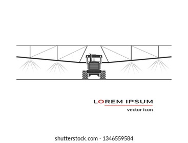 Crop sprayer or liquid fertilizer applicator. Vector illustrator