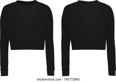 Crop sweater. vector illustration