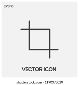 Crop vector icon illustration for web and mobile application isolated on light backround.Flat crop icon.Premium quality.