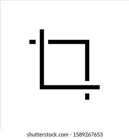 Crop vector icon. Crop tool flat sign design. Crop symbol pictogram